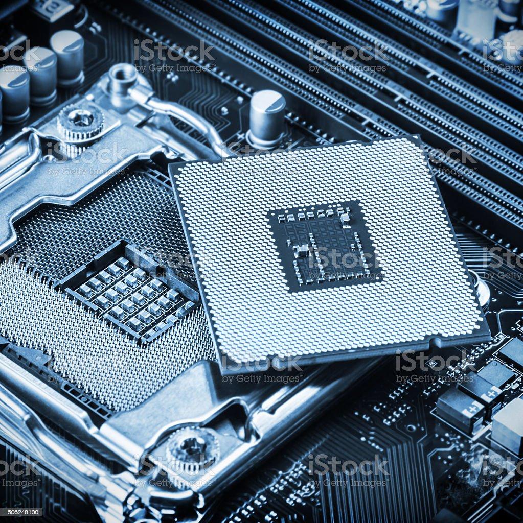 CPU Steckdose und Verarbeiter – Foto