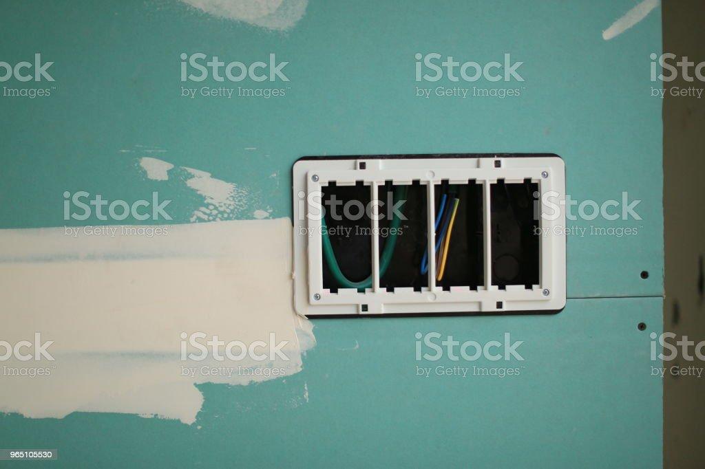 socket box, wall blank zbiór zdjęć royalty-free