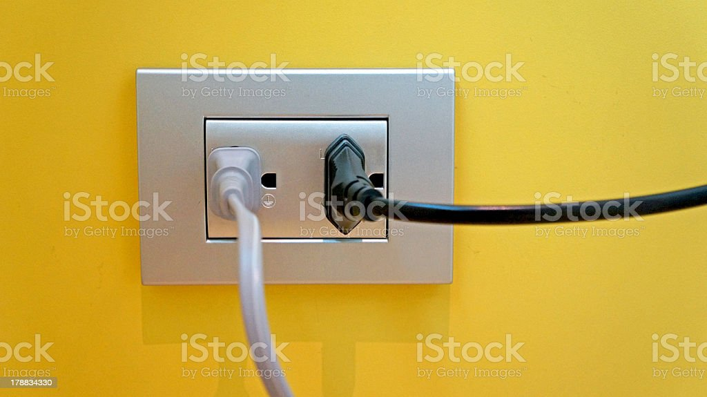 socket on the wall royalty-free stock photo