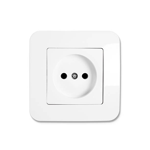 Socket European socket isolated on white electric plug stock pictures, royalty-free photos & images