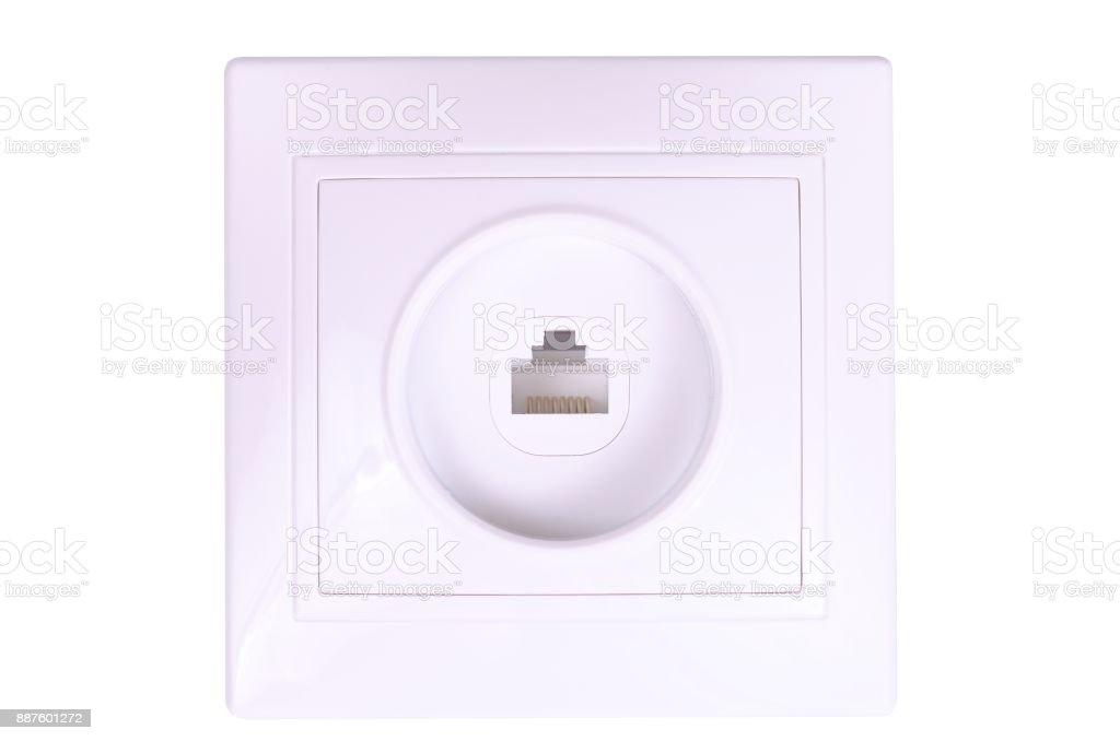 RJ45 socket stock photo