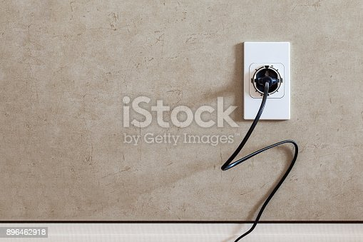 istock socket plug with electric plug cable on vintage backgrounds 896462918