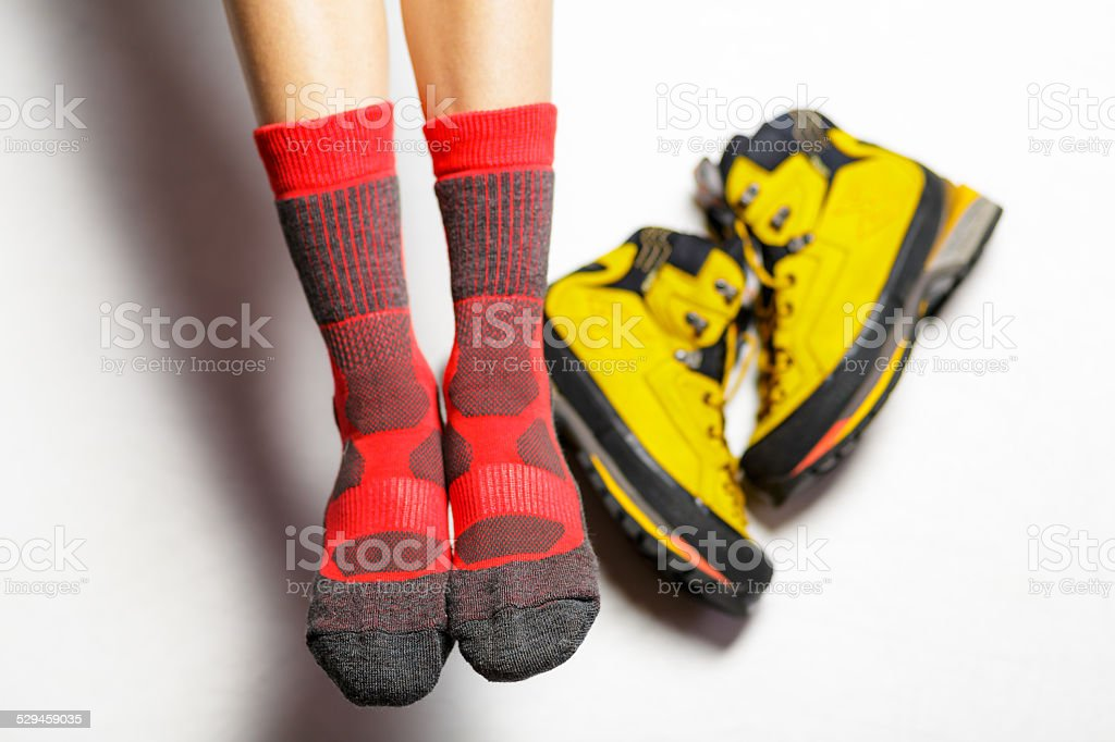 Socks and boot stock photo