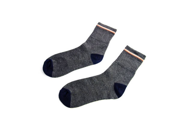 socks isolated on white background stock photo