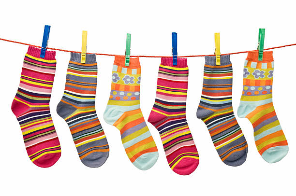 socks lying stock photo