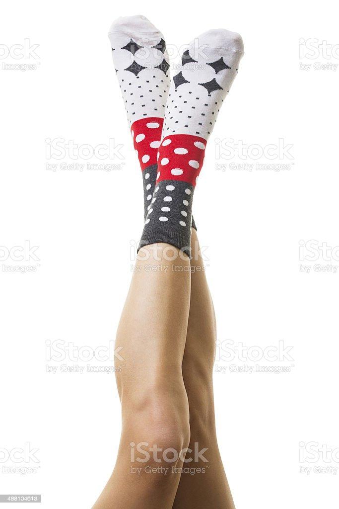 Socks on feet royalty-free stock photo