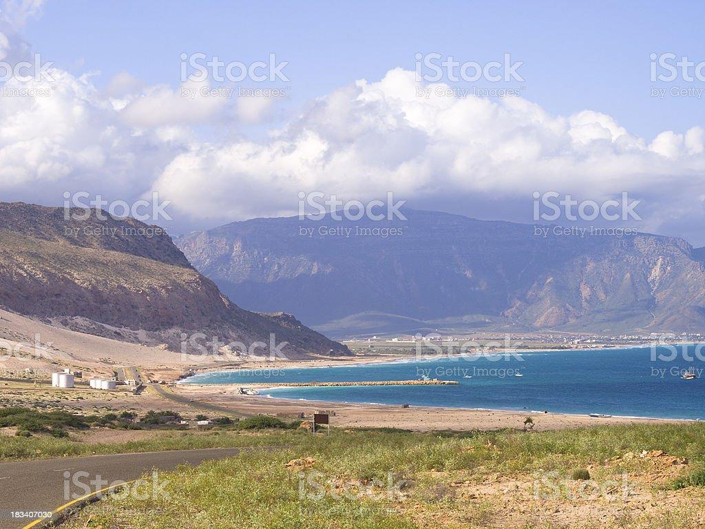 Socotra village stock photo