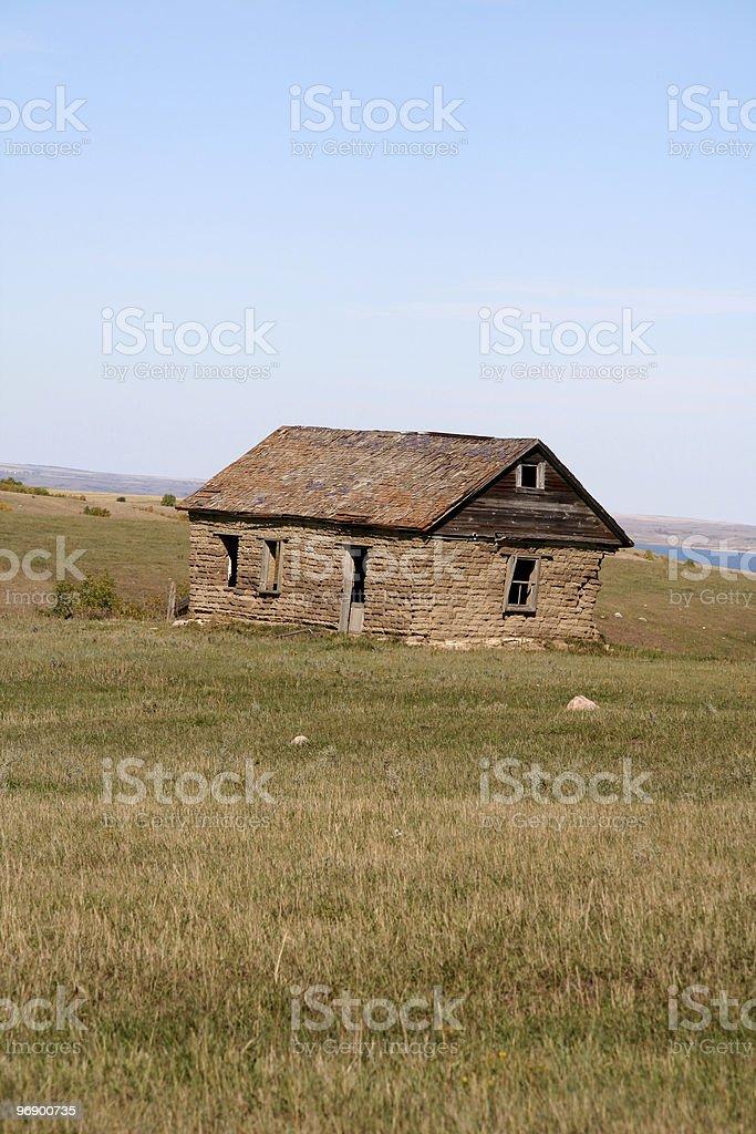 Sod House stock photo