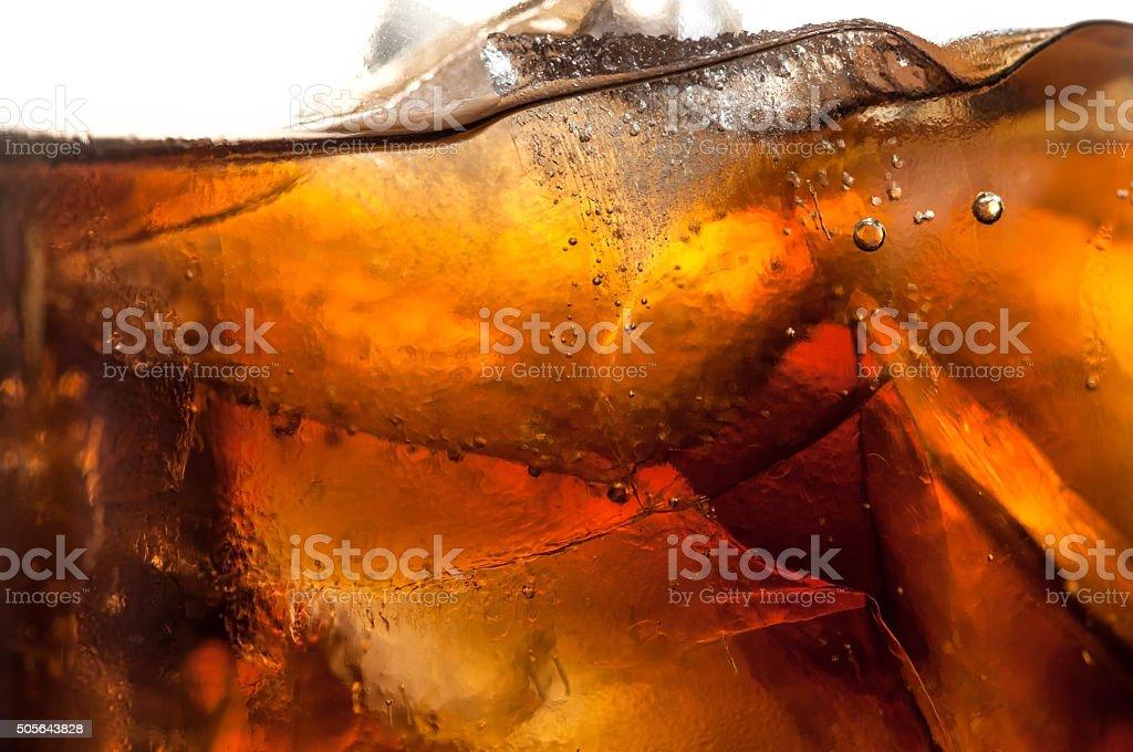 Soda and ice stock photo