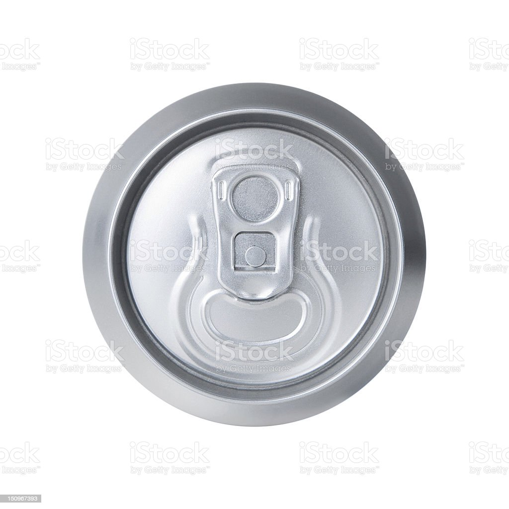 Soda can isolated on white royalty-free stock photo