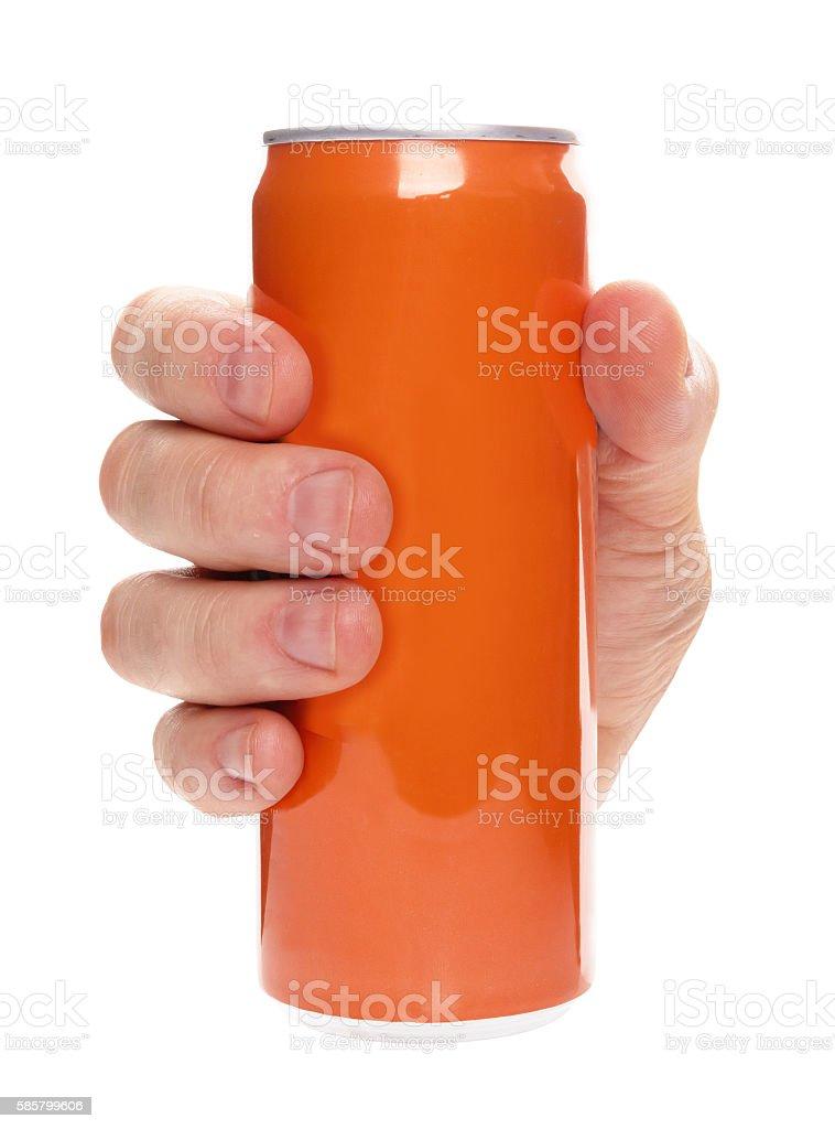 soda can isolated stock photo