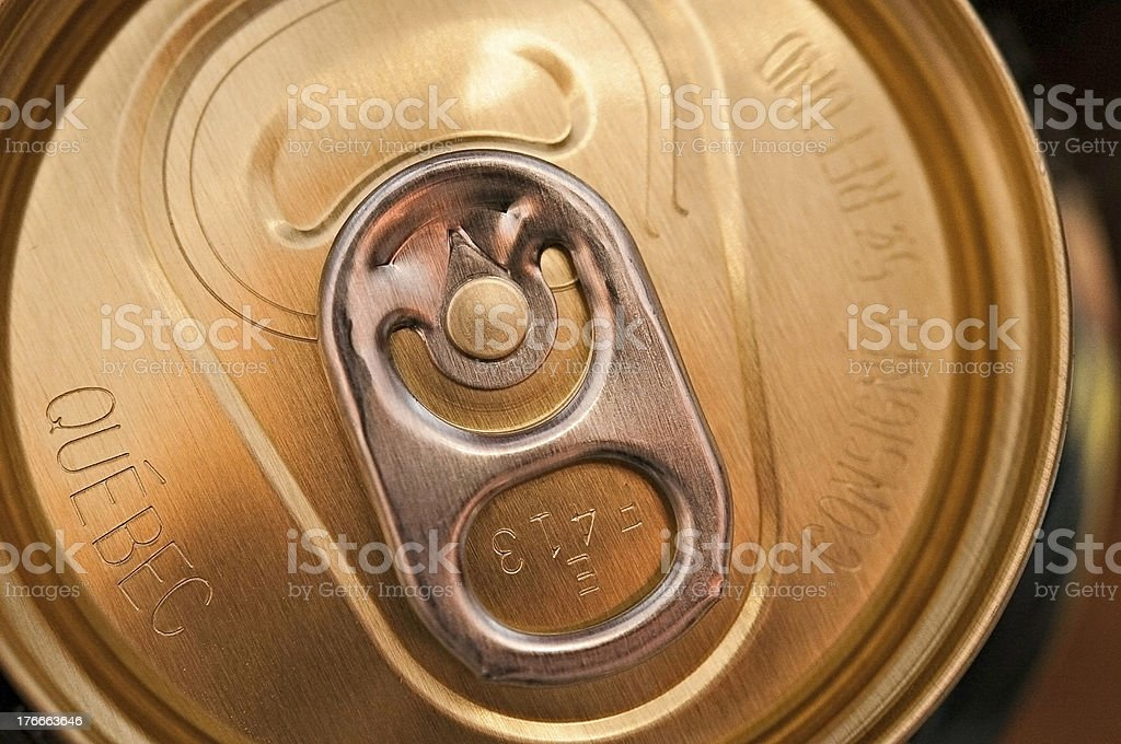 Soda can top royalty-free stock photo