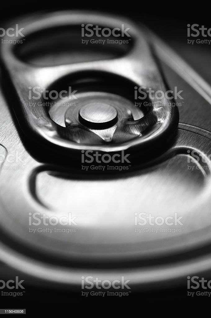 Soda Can Top Pull Tab Close-Up royalty-free stock photo