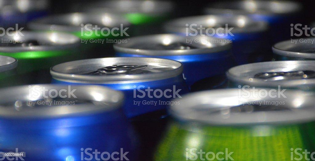 Soda Can Tops stock photo