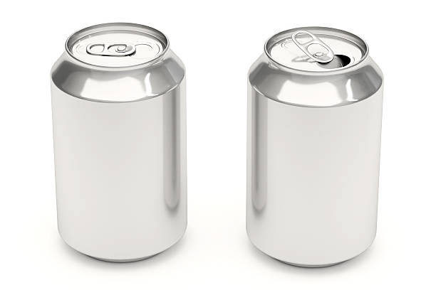 Soda Cans on White stock photo