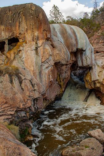 Ojo Caliente Hot springs New Mexico Stock Photo: 34093027
