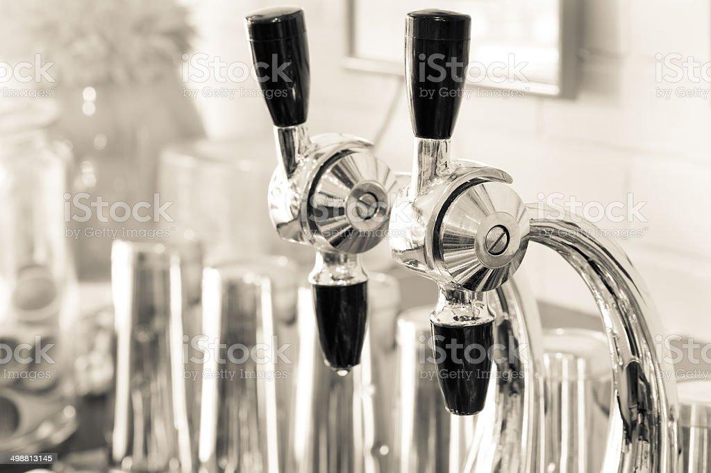 Soda Fountain Nozzles stock photo