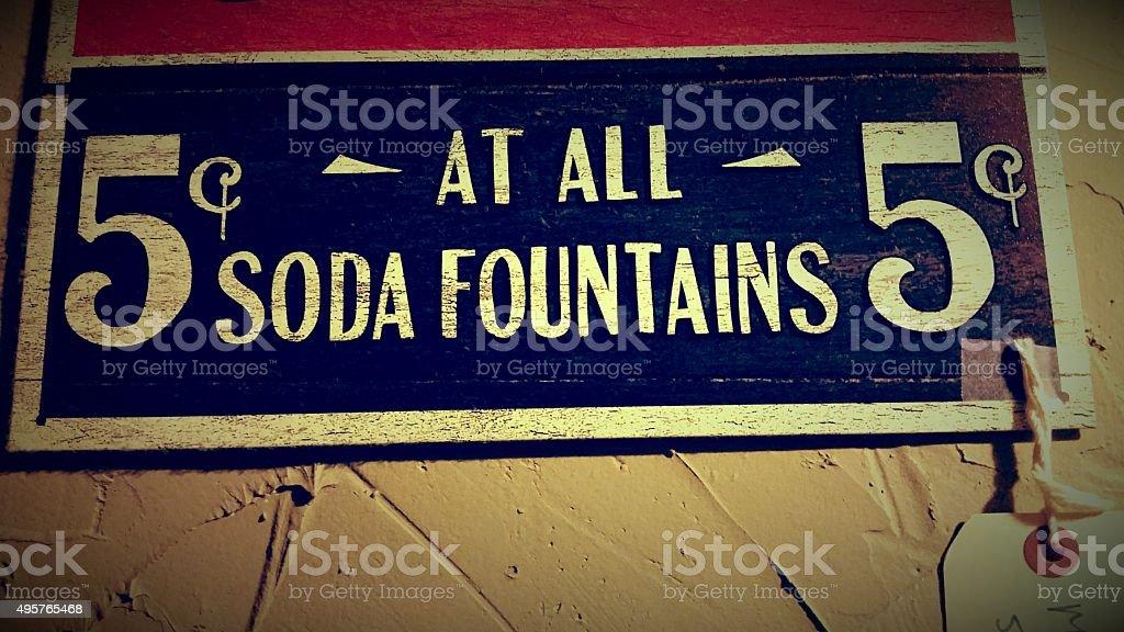 Soda Fountains 5 cents stock photo