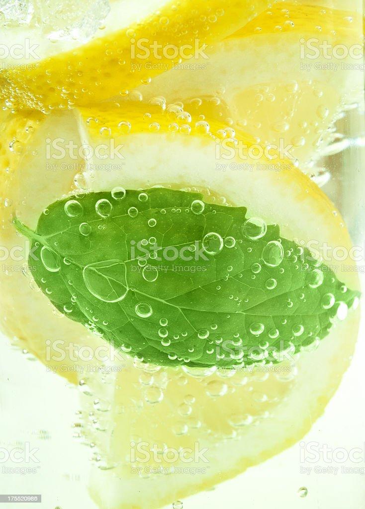 soda, lemon and mint stock photo
