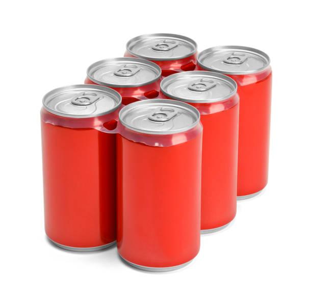 soude rouge six pack - pack de six photos et images de collection