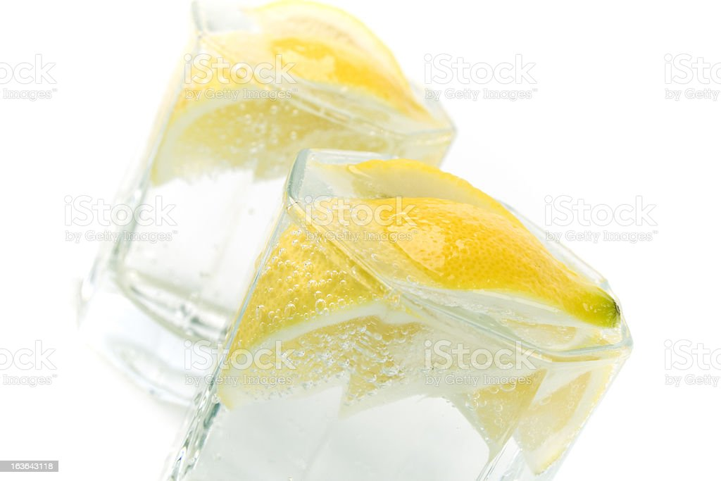 soda water and lemon royalty-free stock photo