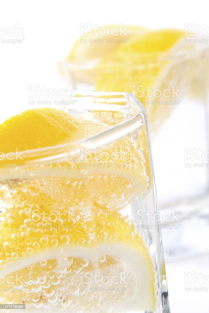 soda water and lemon slices royalty-free stock photo
