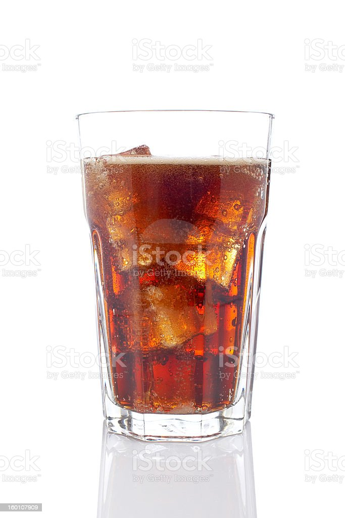 Soda with ice cubes royalty-free stock photo