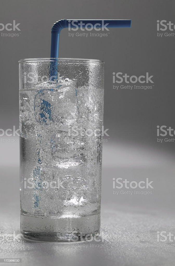 Soda with straw royalty-free stock photo