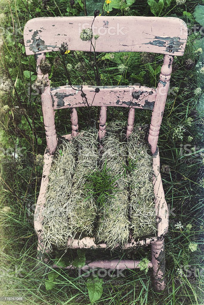 Sodded Chair royalty-free stock photo