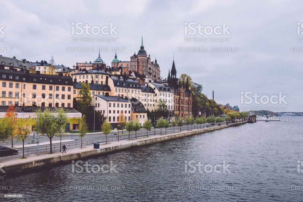 Sodermalm District in Stockholm stock photo