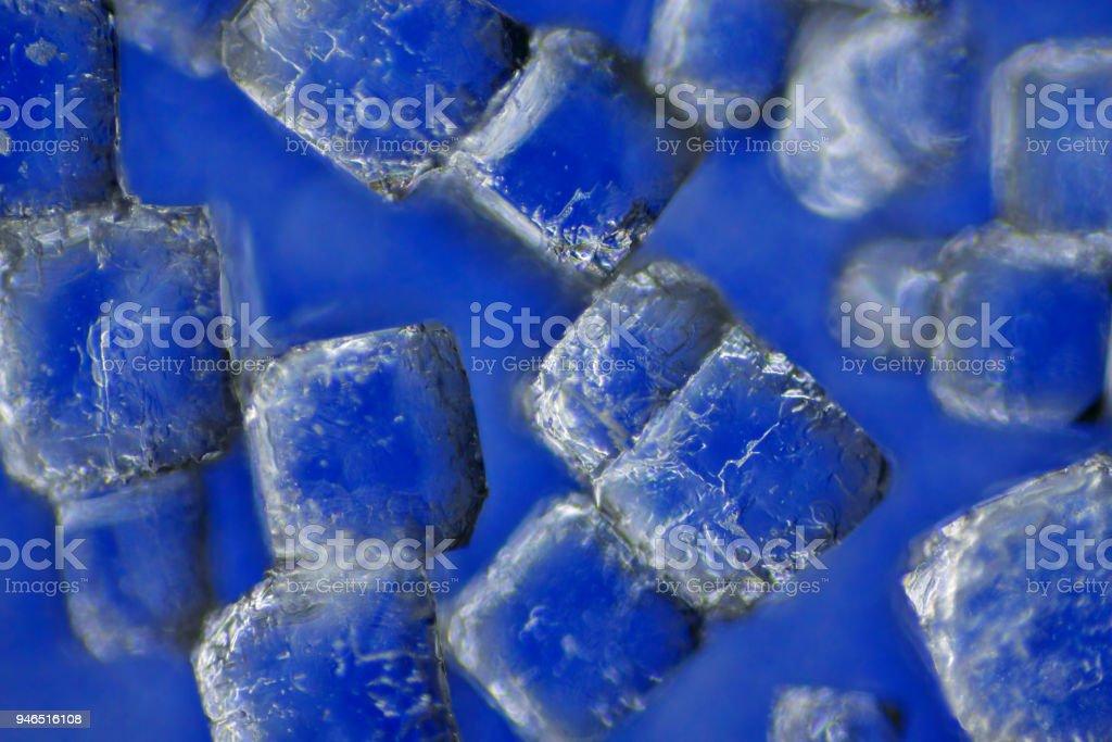 Sodium chloride crystals stock photo