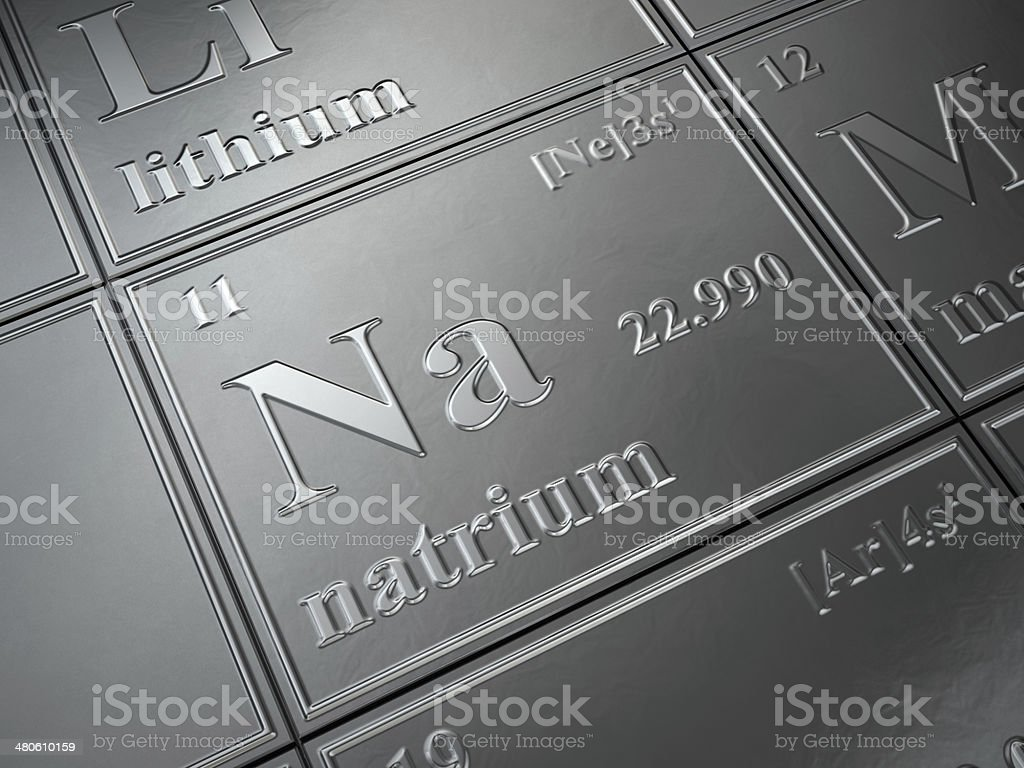 natrium stock photo