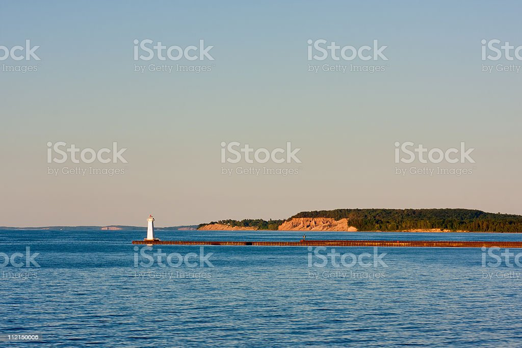 Sodus Bay Lighthouse stock photo