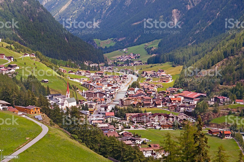 Soelden resort in Otztal, Tirol, Austria stock photo