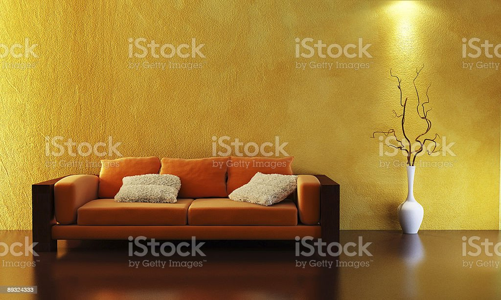 sofa 3D rendering royalty-free stock photo