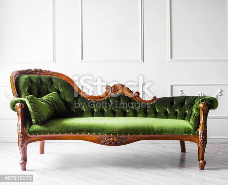 Beautiful classic sofa in a living room
