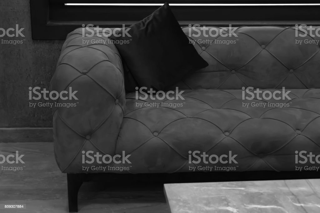 sofa and backrest pillow stock photo