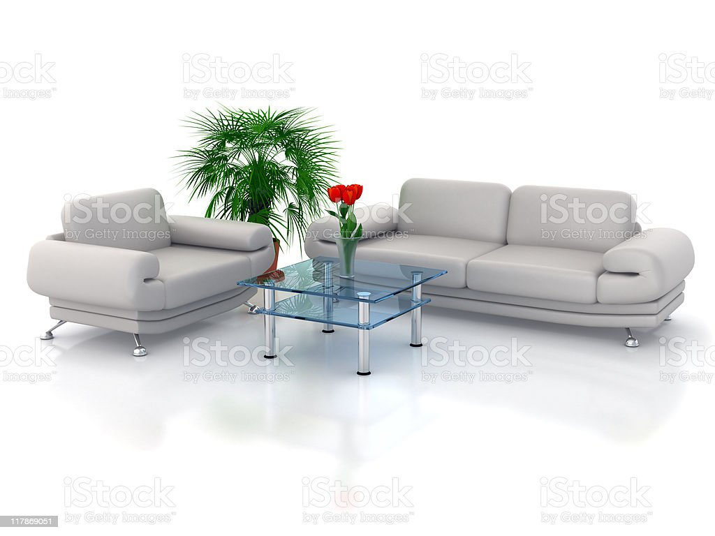 Sofa and Chair royalty-free stock photo