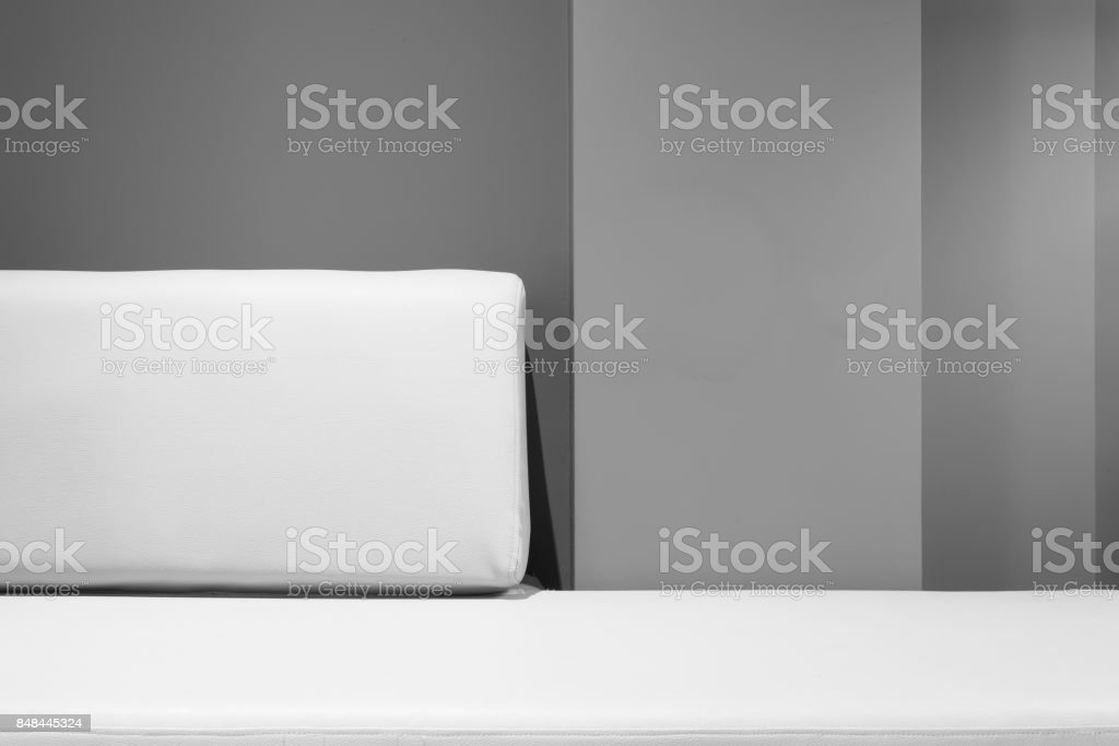 sofa bed and backrest stock photo