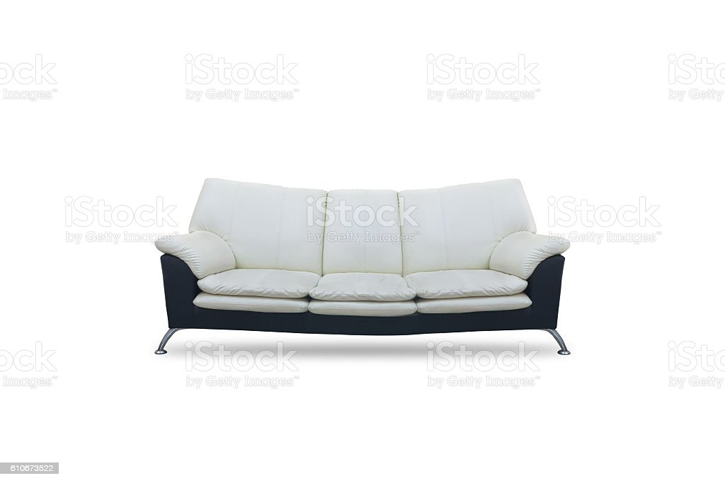 Sofa Black And White Color On Isolated White Background Stock