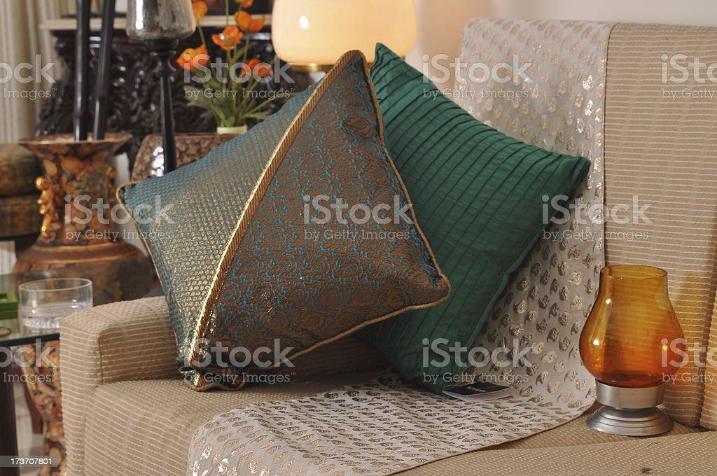 Sofa cushions royalty-free stock photo
