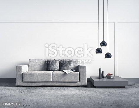 istock Sofa in apartment 1193250117
