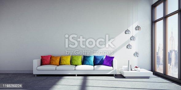 istock Sofa in big apartment 1193250224