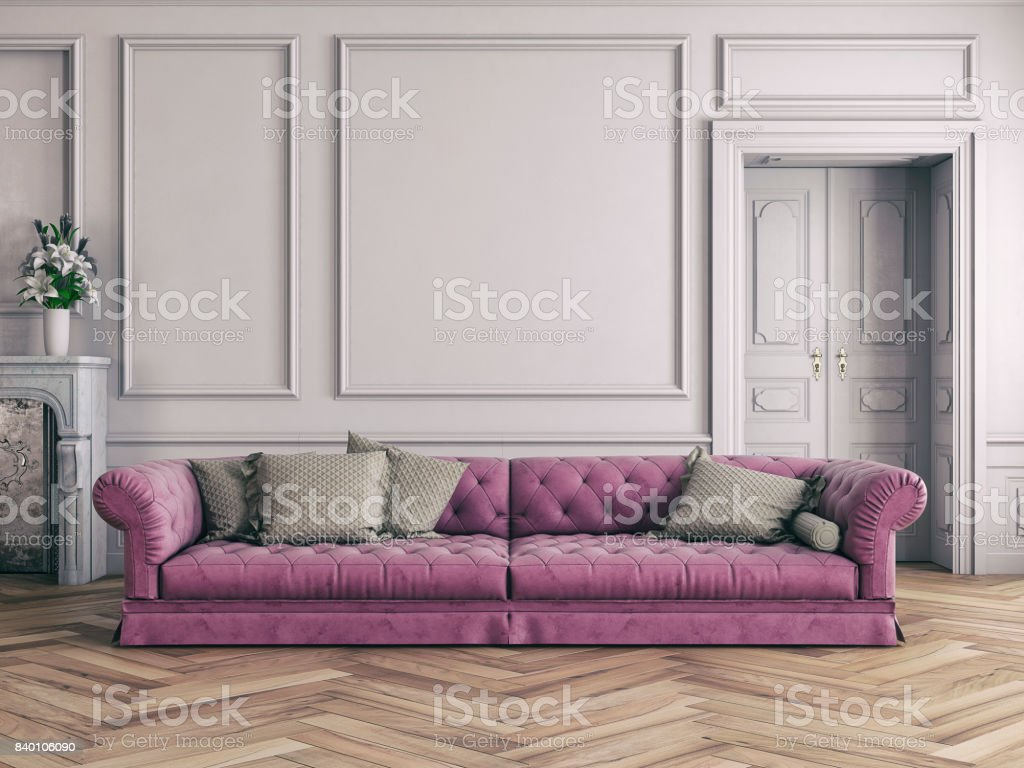 Sofa In Modern Shabby Chic Interior Stock Photo Download