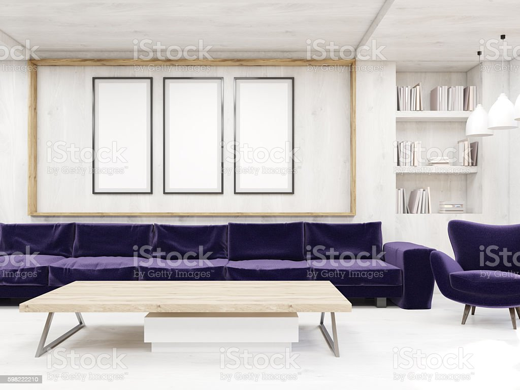 Sofa in picture gallery foto royalty-free