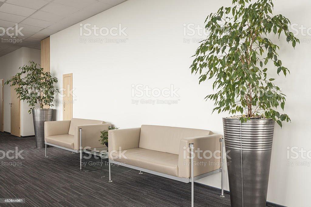 Sofa in reception stock photo