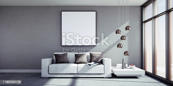 istock Sofa in sunny apartment 1193250129