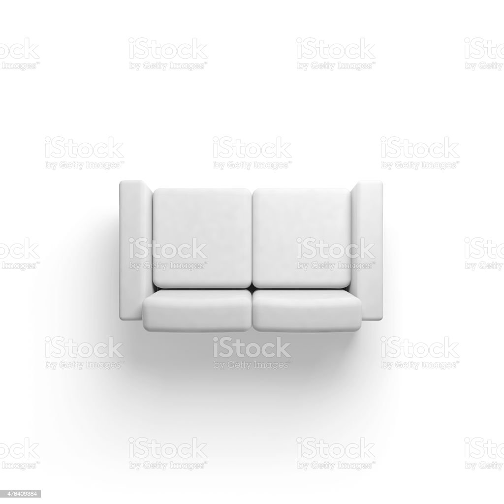 sofa chair top view. Beautiful Top Sofa Isolated On White Empty Floor Background 3d Stock Photo Intended Chair Top View S