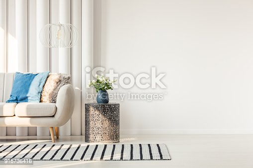istock Sofa next to empty wall 915736416