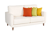 Sofa on white background-clipping path